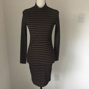 Topshop Ribbed Turtleneck Dress / Size 4